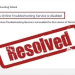 Fix Windows Online Troubleshooting Service is Disabled Windows 10