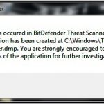 A Problem has occurred in BitDefender Threat Scanner Windows 10, 7, 8